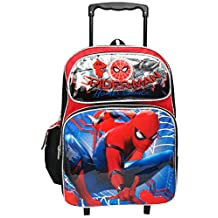 """Marvel Spiderman Home Coming Large 16"""" Rolling Backpack"""
