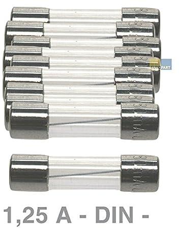 DIN Sicherung 0,5 A 10 Stück Feinsicherung 5 x 20 mm