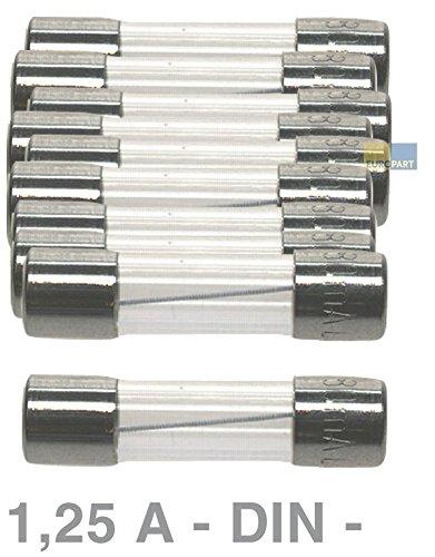 10 Glassicherungen 5x20 5,0 A Püschel Feinsicherung träge Gerätesicherungen