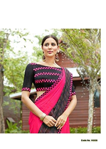 sposa 2620 festival matrimonio EMPORIUM Georgette abito tradizionale etnico EID ETHNIC indiano ultima di Saree Trendy sari partywear donna jari da indiano richlook En6x8xq1