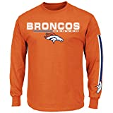 Denver Broncos Primary Receiver V Long Sleeve NFL T-Shirt - Size X-Large