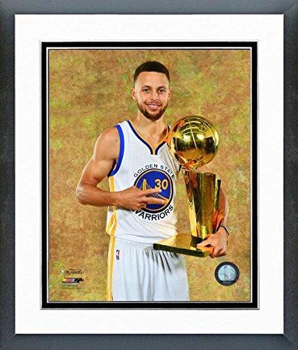 Stephen Curry ゴールドen State Warriors 2017 Championship Trophyフォト(サイズ: 26.5 CM x 30.5 CM )フレーム