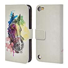 Official Mark Ashkenazi Horse Animals Leather Book Wallet Case Cover For iPod Touch 5th Gen / 6th Gen
