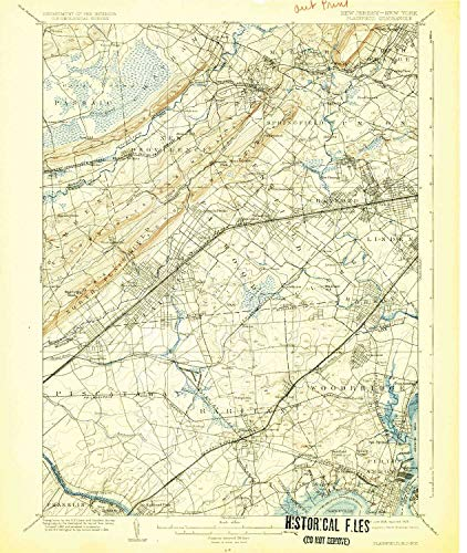 Used, YellowMaps Plainfield NJ topo map, 1:62500 Scale, 15 for sale  Delivered anywhere in USA