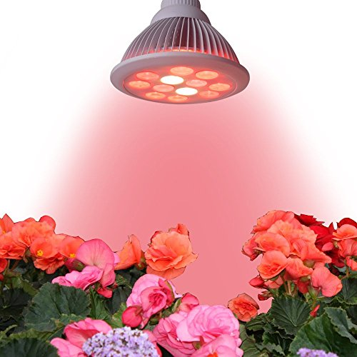 SAIDI High Efficiency E26 36W LED Grow Light Bulb LED Growing Lamps For Hydropoics Greenhouse Garden (Red, White)
