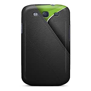 Durable Protector Case Cover With Green Leather Hot Design For Galaxy S3