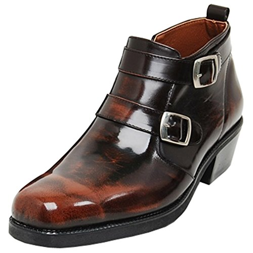 Epicsnob Mens Shoes Brown Genuine Cow Leather Dress Formal Casual Boots 8.5 M US