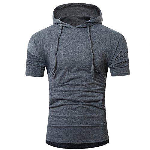 Fonce Débardeur Taille Capuche Gris À Hommes Moika Sport Top Blouse shirt Liquidation over Grande T Streetwear Pull Gilet Haut Coton HIOHwqa