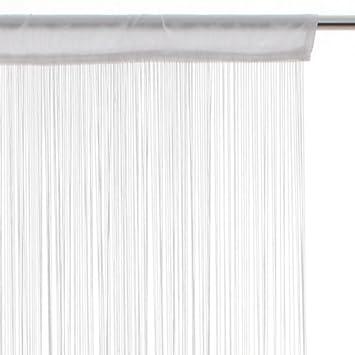 Rideau fil (largeur 120 cm) Blanc: Amazon.fr: Cuisine & Maison