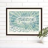 Peace on Earth Framed Vintage Map Art