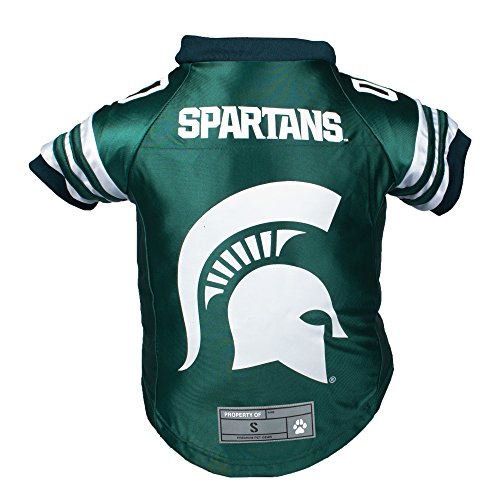 Littlearth NCAA Michigan State Spartans Premium Pet Jersey, Xtra Small