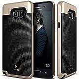 Galaxy Note 5 Case, Caseology® [Envoy Series] Premium Leather Bumper Cover [Carbon Fiber Black] [Leather Bound] for Samsung Galaxy Note 5 - Carbon Fiber Black