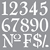 Deco Art Americana Decor Stencil, Old World Numbers