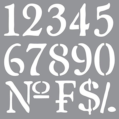 DecoArt ADS-09 Americana Decor Stencil, Old World Numbers