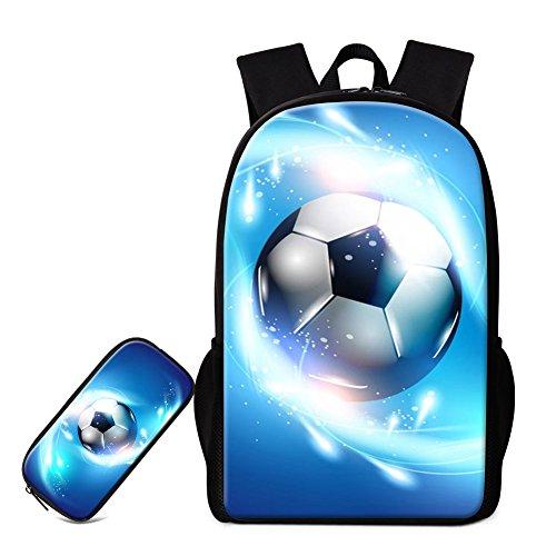 GIVE ME BAG Generic Soccer Backpack and Pencil Case for Children Baseball Bookbag for Boys