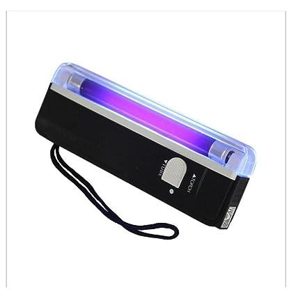 yunche nghe Portable Handheld Negro Luz 2 en 1 Luz UV linterna fosforito Dinero Falso factura