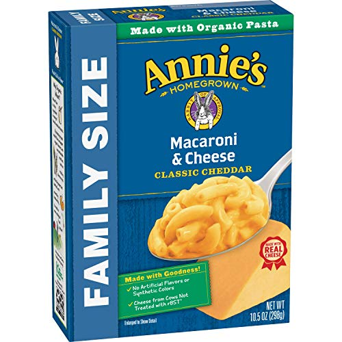 - Annie's Family Size Classic Mild Cheddar Macaroni & Cheese, 6 Boxes, 10.5oz (Pack of 6)