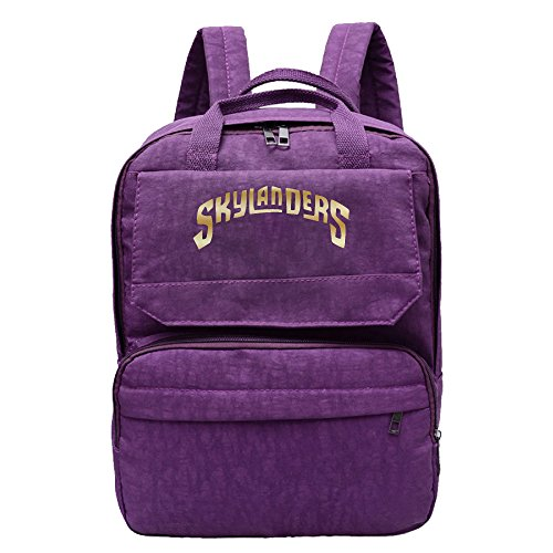Women's Skylanders Gold Logo Backpack Daypack Purple