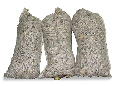 Haxnicks Jute130101 Pack of 3 Composting Sacks, Brown