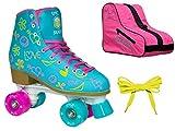 Epic Splash High-Top Indoor / Outdoor Quad Roller Skate 3 Pc. Bundle - Children's (Youth 3)