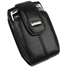 RIM Blackberry 8800, 8830 PDA OEM Original Leather Black Swivel Holster Case with Belt Clip