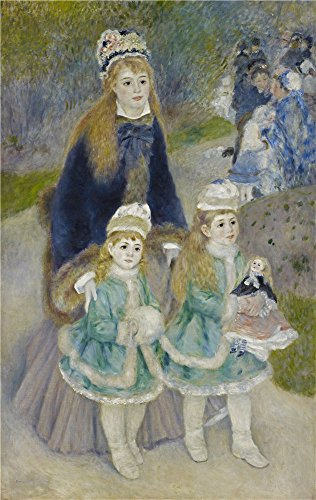 Oil Painting 'Pierre-Auguste Renoir - Mother And Children (La Promenade), 1875-76' 10 x 16 inch / 25 x 40 cm , on High Definition HD canvas prints, gifts for Dining (Wallpaper De Halloween Gratis)