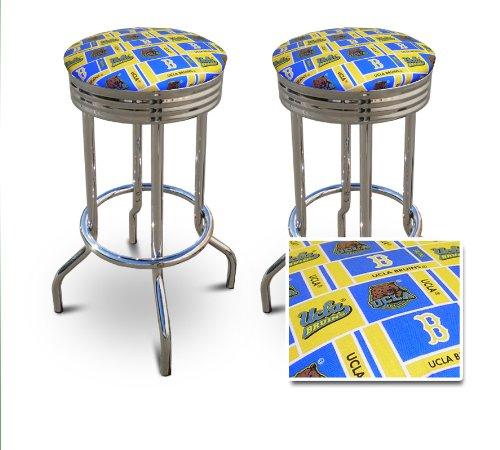 2 UCLA Bruins 29'' Specialty Chrome Barstools Bar Stools [Kitchen] -