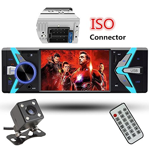 Car Rear View Camera + 4.1'' Cavogin Car Stereo With Bluetooth Single Din FM Radio and MP5 Player USB/SD/AUX/FM Receiver Wireless Remote Control