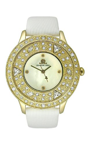 JLO Three-Hand Satin - White Women's watch - Satin Jlo