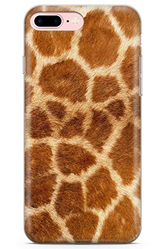 Case Warehouse iPhone 7 Plus Case, iPhone 8 Plus Case, Designer Fashion Giraffe Print Phone Case Clear Ultra Thin Lightweight Gel Silicon TPU Protective Cover | Animal Dog Cat 101 -