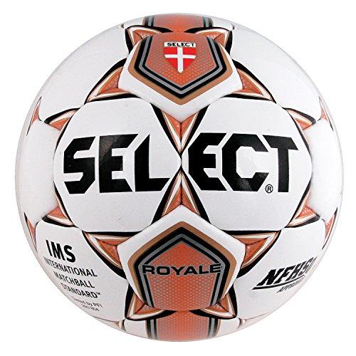 Select Sport America Royale Soccer Ball, 5, White/Orange