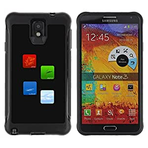 LASTONE PHONE CASE / Suave Silicona Caso Carcasa de Caucho Funda para Samsung Note 3 / Fire Earth Water Air Elements Of Life