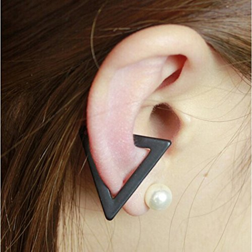 Voberry® Unisex Punk Metal Cartilage Ear Cuff Wrap Clip Hollow Triangle Earring