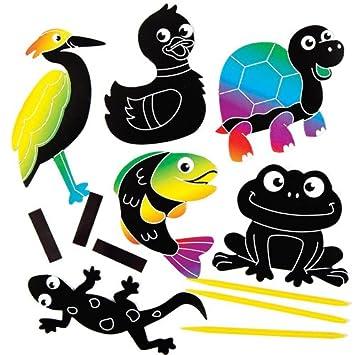 Baker Ross soccer Boot Scratch Art Magnets for Childrens Design Crafts Pack of 10