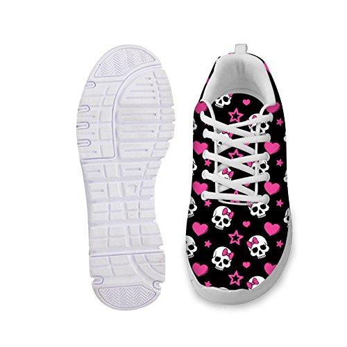 Bigcardesigns Skalle Avslappnade Andas Ultralätta Bekväma Sneakers Utbilda Shose 35