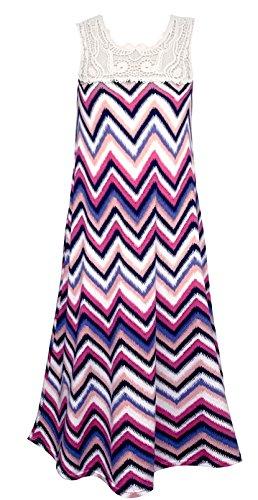 bcb43edf7 Smukke Big Girls Tween Vintage Lace Geo Print Maxi Dresses (Many ...