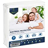Ruili Twin Size Premium Hypoallergenic Waterproof Mattress Protector, Dust Mite Proof, Insect Prevention and Super Soft Mattress Protector Bed Cover - Vinyl Free