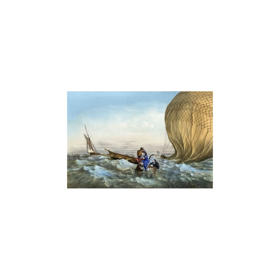 Rescued at sea from a falling balloon 16X24 Canvas