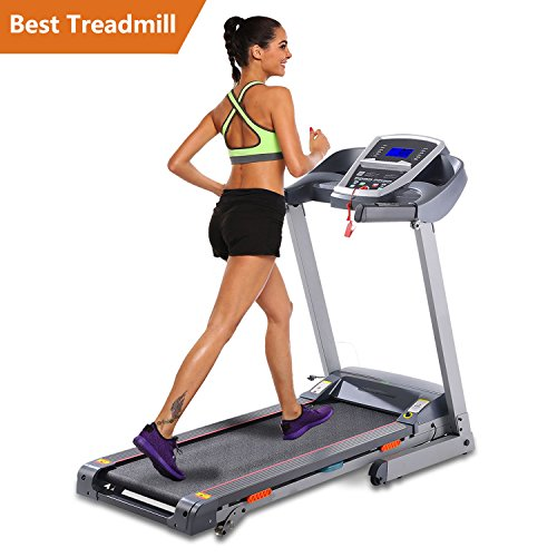 Folding Electric Treadmill Incline Motorized Running Machine Home Gym Exercise (Functional treadmill-Gray)