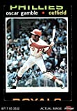 1971 Topps # 23 Oscar Gamble Philadelphia Phillies (Baseball Card) Dean's Cards 2 - GOOD Phillies