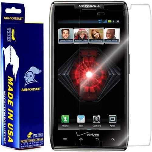 Life Droid Razr Covers - ArmorSuit MilitaryShield - Motorola Droid Razr Screen Protector Shield + Lifetime Replacements