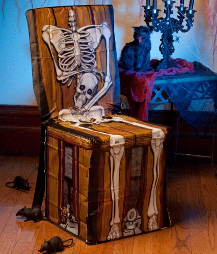 Spooky Scenes Skeleton Chair Cover