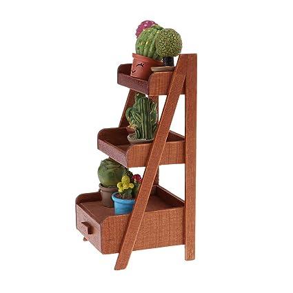 adornos para la casa Amazones Baoblaze Miniatura Muebles De Madera Adornos Para