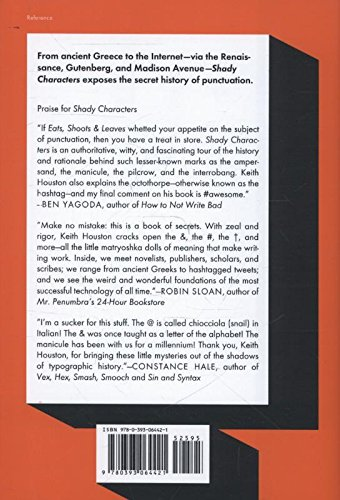 Shady Characters: The Secret Life of Punctuation, Symbols, and Other Typographical Marks by W W Norton Company