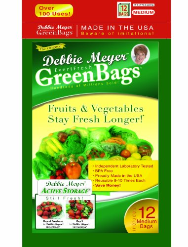 Debbie Meyer Green Bags  Medium  12 Pack