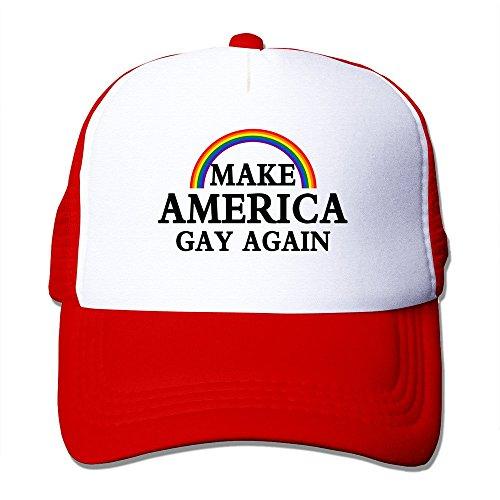 Men Make America Gay Again Funny Mesh Back Hat Baseball Hats