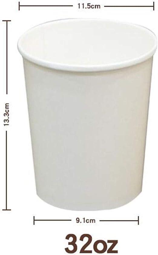 Kraft desechable sopa de helado del envase [con tapas, 100pcs ...