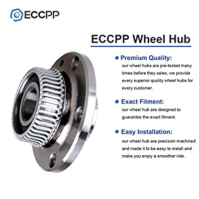 ECCPP Rear Wheel Hub Bearing Assembly 5 Lugs w/ABS for Audi TT Volkswagen Beetle Compatible with 512012: Automotive