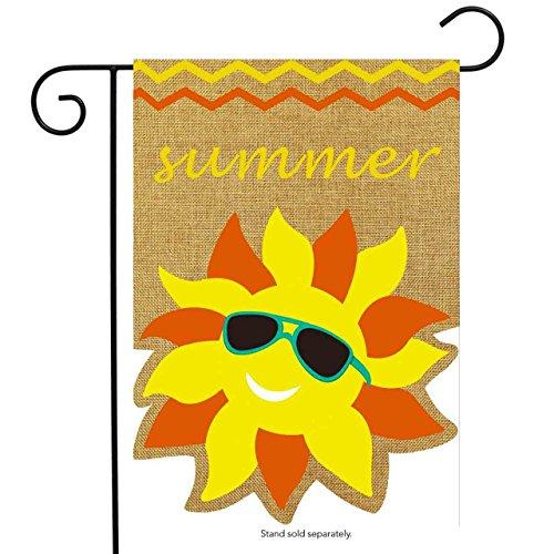 garden banners. Summer Sunface Burlap Garden Flag Seasonal Sunshine 12.5\ Banners R