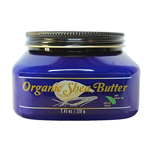 Sapphire Green Earth - Organic Shea Butter Skin Care Cream - Rich Conditioning Tonic for Youthful Supple Skin - African Unrefined and Raw, Treats Stretch Marks and Dry Skin